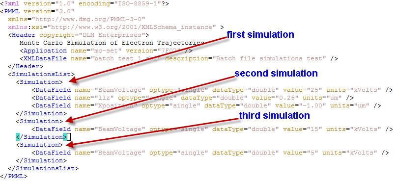 MC-SET simulation batch file example